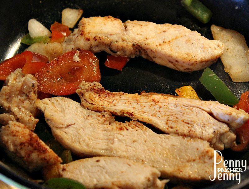 Fajita Chicken Salad Cooking