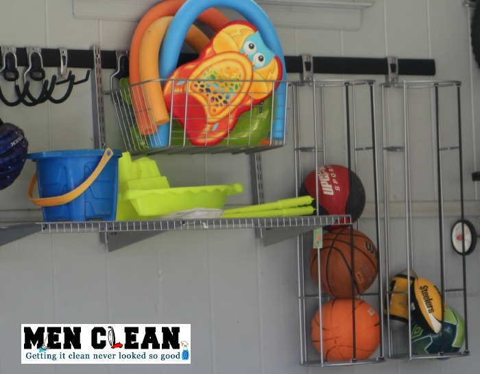 Rubbermaid FastTrack vertical ball racks