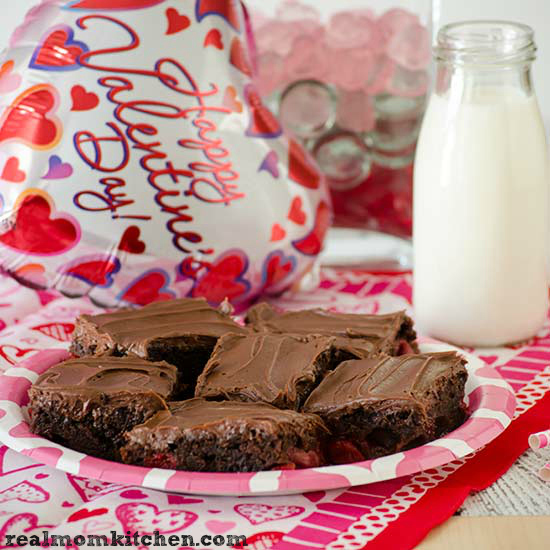 Easy Cherry Chocolate Brownies | realmomkitchen.com