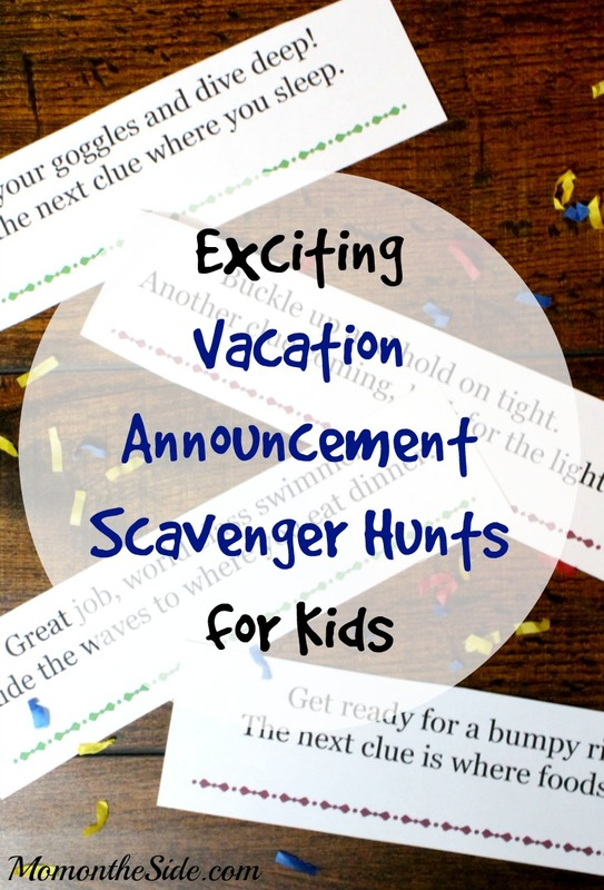 vacation announcement scavenger hunts