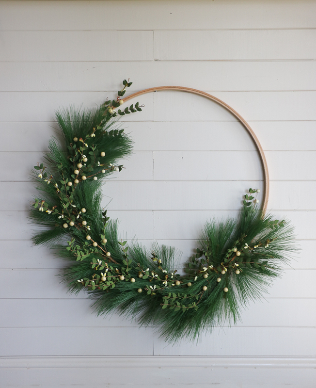 i am loving all the simple hoop wreaths used in decor so i partnered with hobby lobby and created this holiday version - Hobby Lobby Christmas Wreaths