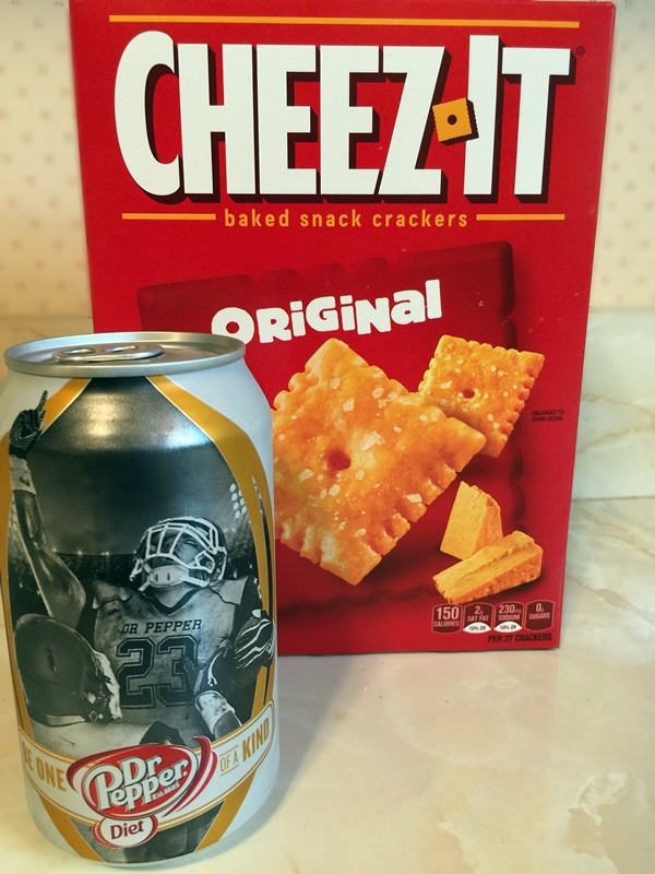 Dr Pepper and Cheez Its