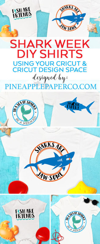 Shark Week T Shirt Designs by Pineapple Paper Co.