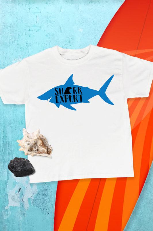 Shark Expert Shirt by Pineapple Paper Co. for Cricut