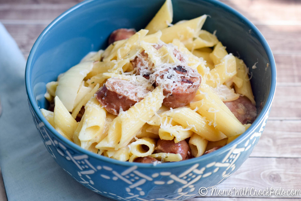 cream sausage pasta-1