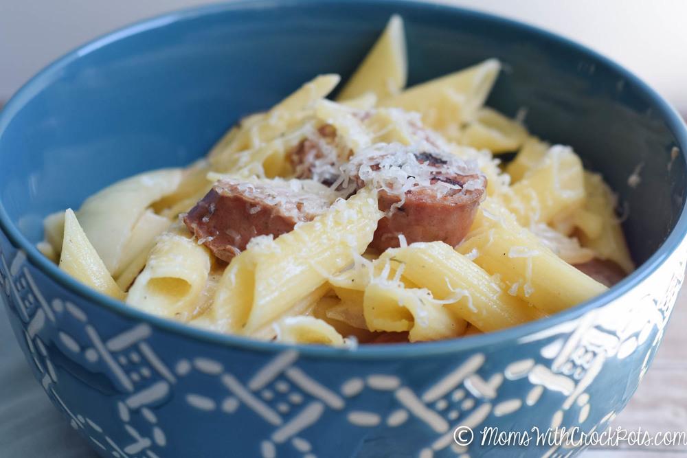 cream sausage pasta-1-4