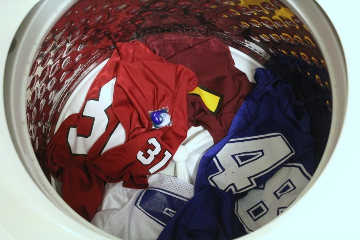 how to wash a football jersey