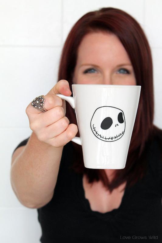 Jack Skellington Halloween Mug - Dunkin' Donuts Mug Up Halloween Photo Contest