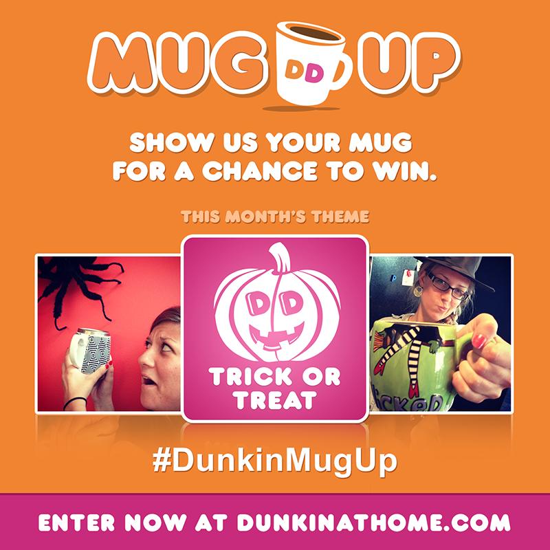 Dunkin' Donuts Mug Up Halloween Contest #DunkinMugUp