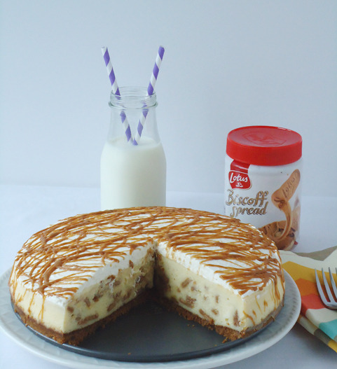 White Chocolate Biscoff Cheesecake