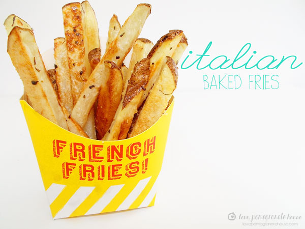 Italian Baked Fries