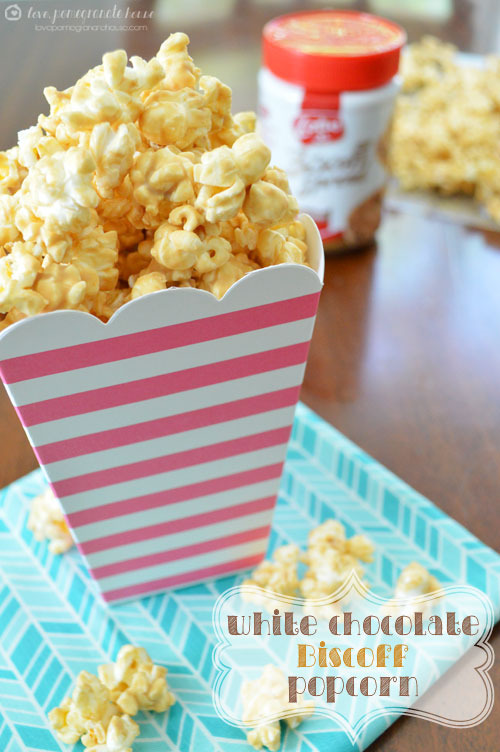 White Chocolate Biscoff Popcorn via Love, Pomegranate House