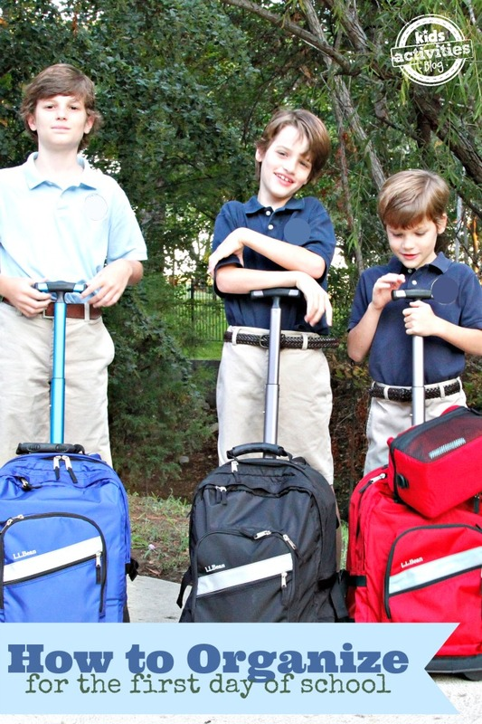 How to Organize for the First Day of School - Kids Activities Blog