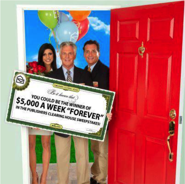 "Publishers Clearing House ""Forever Prize"" - $5000 Per Week"