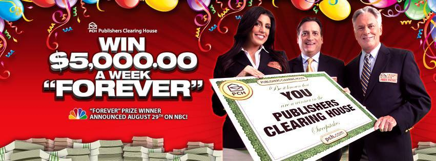 Enter to Win the Publishers Clearing House