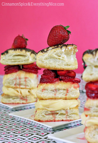 Strawberry Napoleons | Cinnamon-Spice & Everything Nice