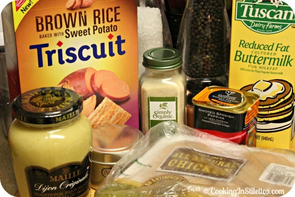 Triscuit Crusted Chicken - Ingredients