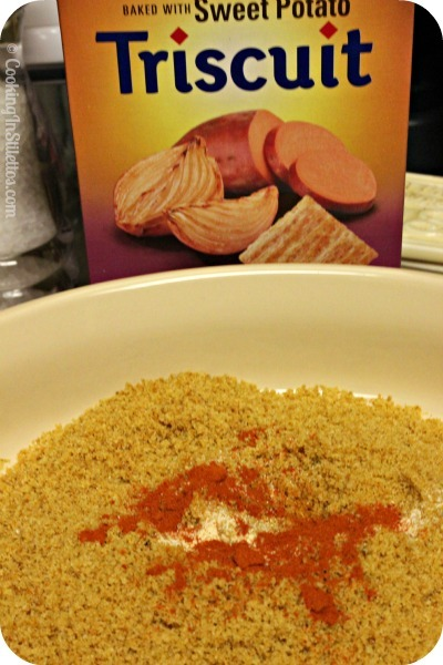 Triscuit Crusted Chicken - Triscuit Coating