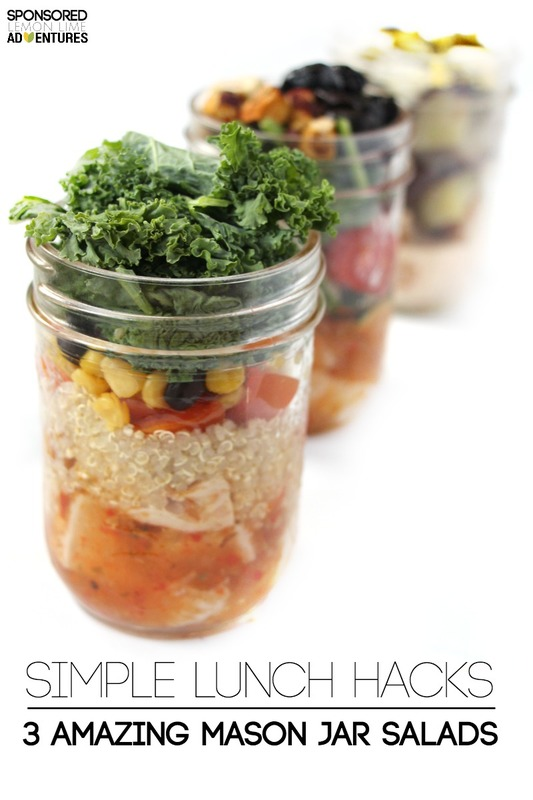 Mason Jar Salads with Chicken Simple Lunch Hacks