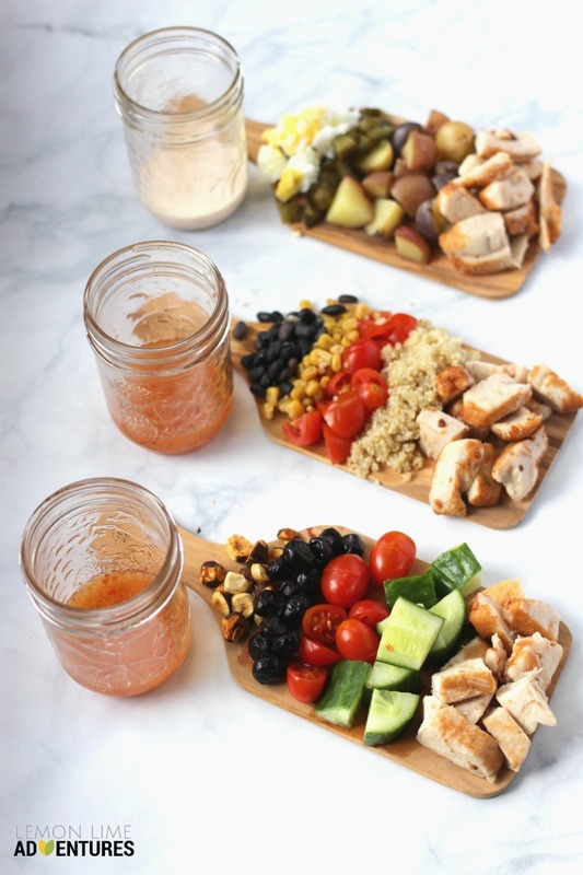 Mason Jar Salads with Chicken