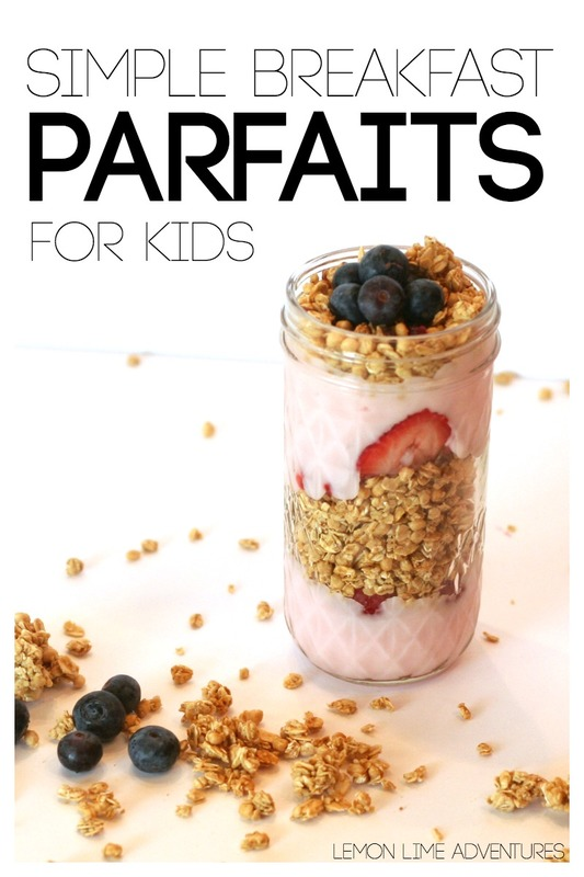 Simple Breakfast Parfaits for Kids