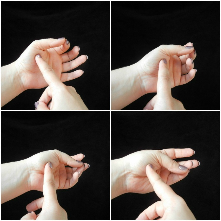 how to tell streak doneness using your palm collage