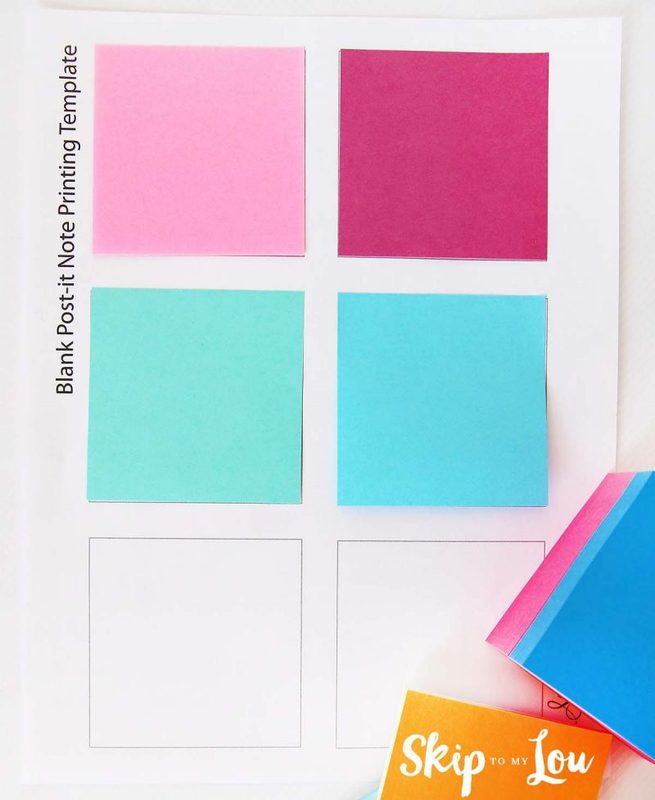 how to print on post-it notes