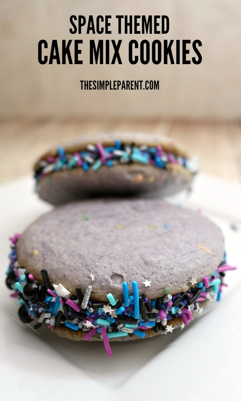 Make this easy space cookies recipe with cake mix!