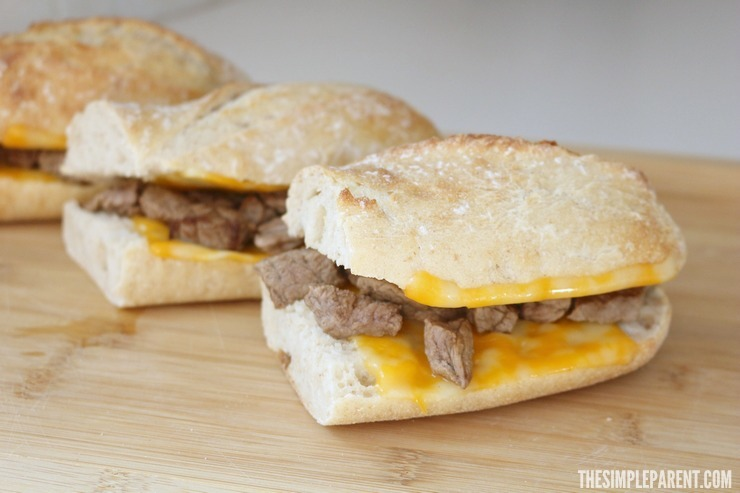 Enjoy lunch together with this quick Steak and Cheese sandwich recipe! Makes an easy dinner on busy nights too!