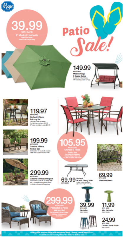 Kroger patio furniture sale