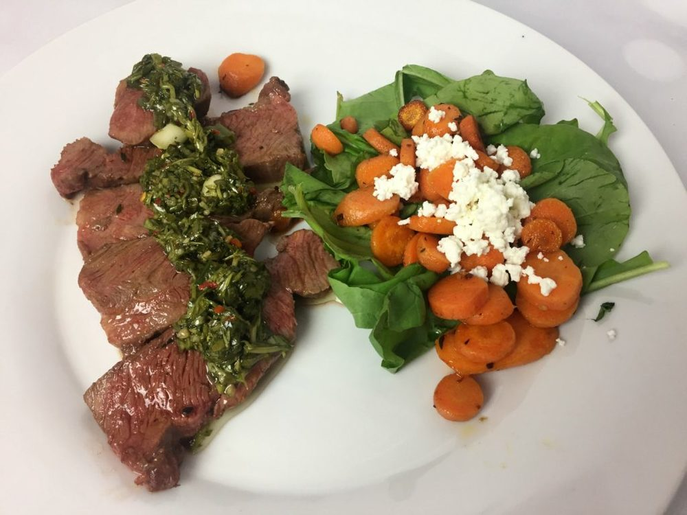 Kroger Prep and Pared Chimichurri Steak - Final Dish
