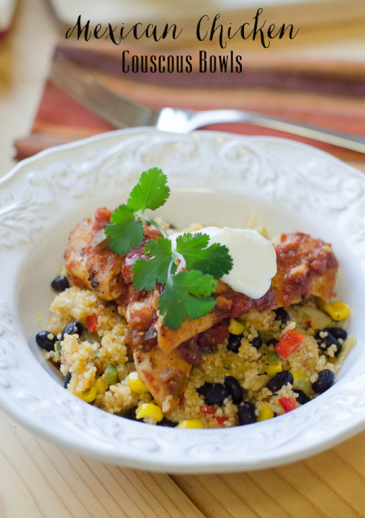 Mexican Chicken Couscous Bowls