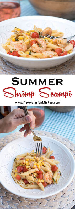 This Summer Shrimp Scampi is your answer for an incredibly fast, company-worthy summer meal. Gorgeous, delicious and ready to serve in under 30 minutes!