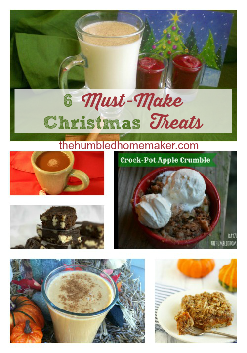 These 6 Christmas treats are on my must-make list this year! They are all made with real, whole food ingredients too! Check out these delicious recipes!