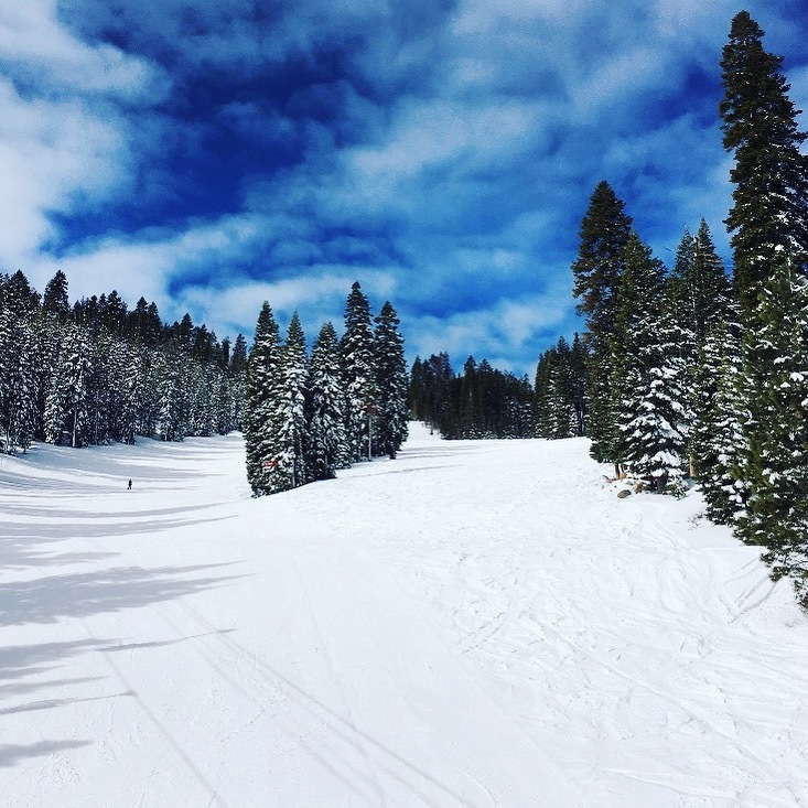 Groomed runs at Northstar California ski resort