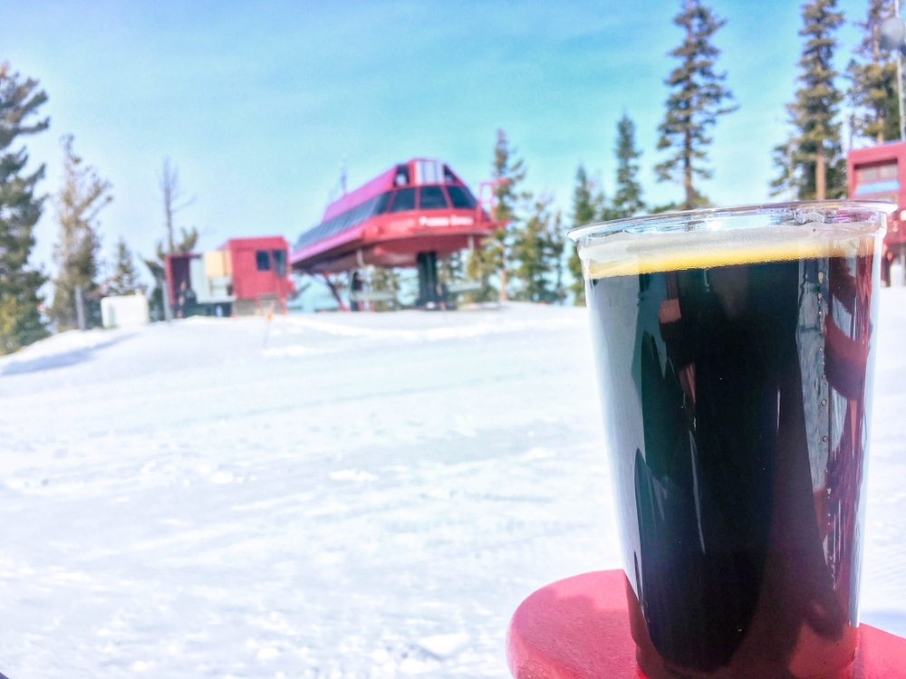 Apres ski at the summit of Northstar California