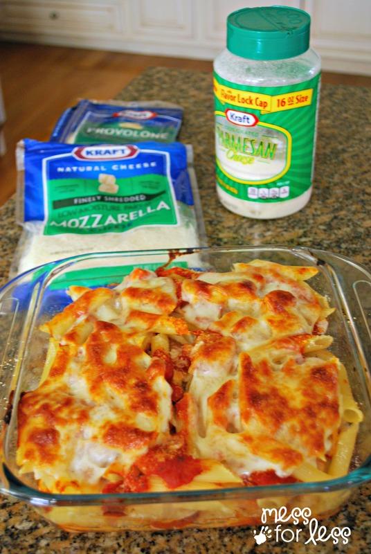 3 cheese chicken and pasta casserole