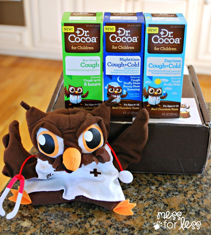 3 formulas of Dr. Cocoa and puppet #sponsored