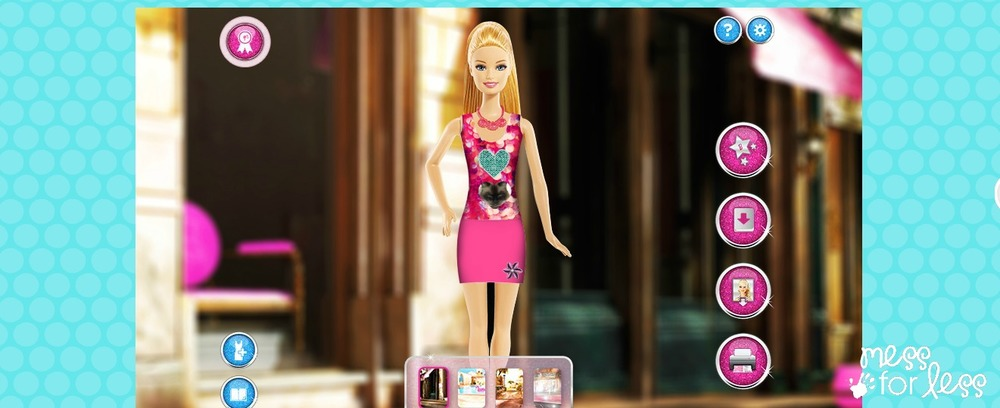 Kids Can Be Fashion Designers With Barbie Mess For Less