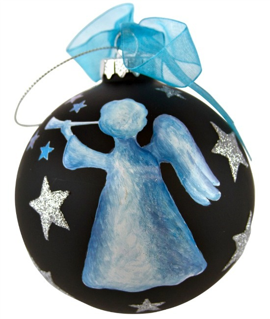Chalkboard Blue Angel ornament