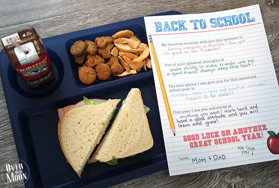 Back to School Lunch Note from Mom and/or Dad! So fun!