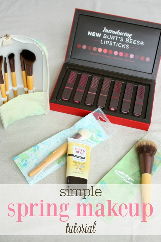 spring makeup tutorial with Burt's Bees