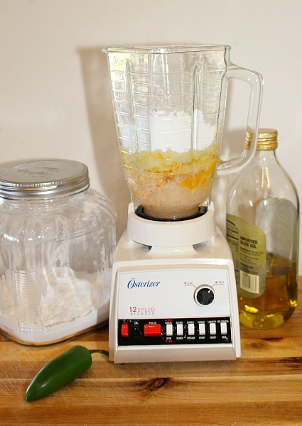 Making Gluten-Free Jalapeno Popovers Recipe Using a blender