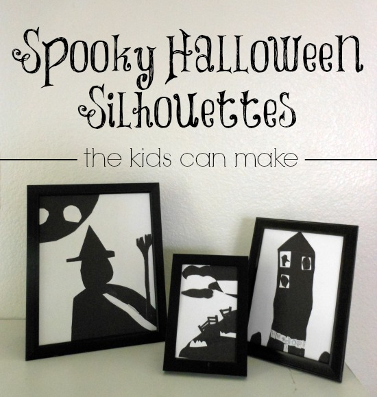 spooky Halloween silhouettes the kids can make - LOVE THESE