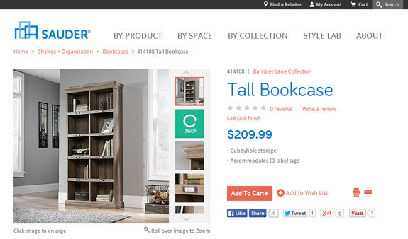 Sauder Furniture Review: Barrister Lane Tall Bookcase #decor #home