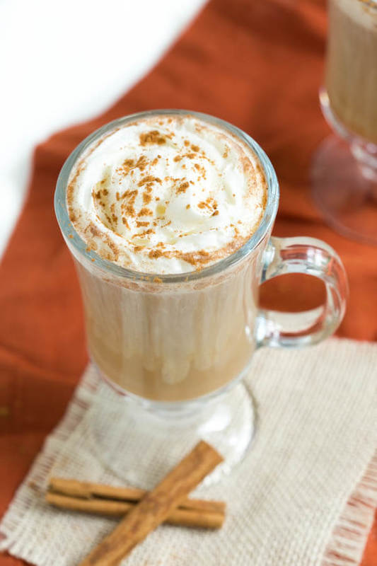 Coconut Cinnamon Spice Latte is made with coconut creamer, freshly brewed espresso, cinnamon spice and a pinch of nutmeg. Top it with chipped cream and enjoy the taste of the fall season!