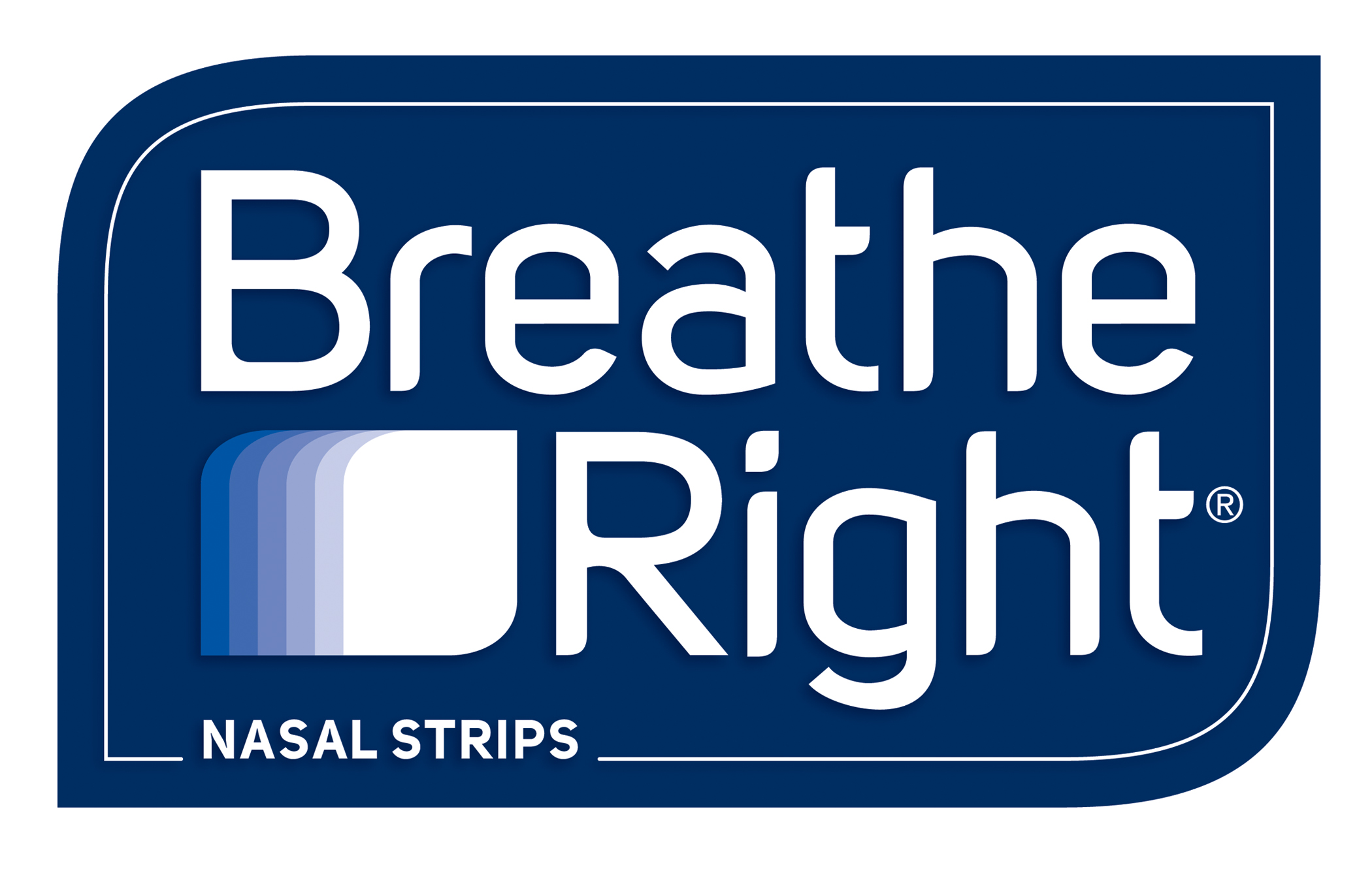 A close up of a Breath Right Nasal Strips sign.