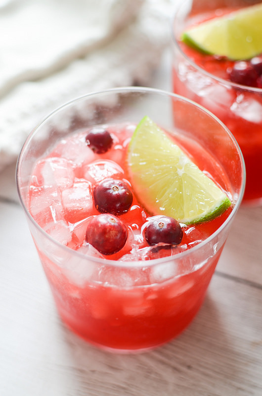 Cranberry Margaritas - the perfect holiday cocktail! These festive cocktails are made from only a few ingredients and are so easy. Great for Thanksgiving or Christmas!