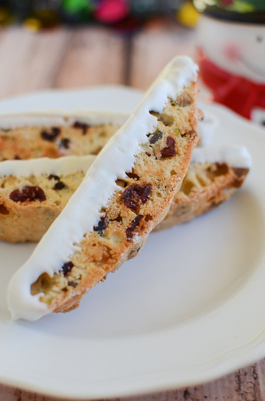 Cranberry, Pistachio, and White Chocolate Biscotti - perfect for holiday gifts!