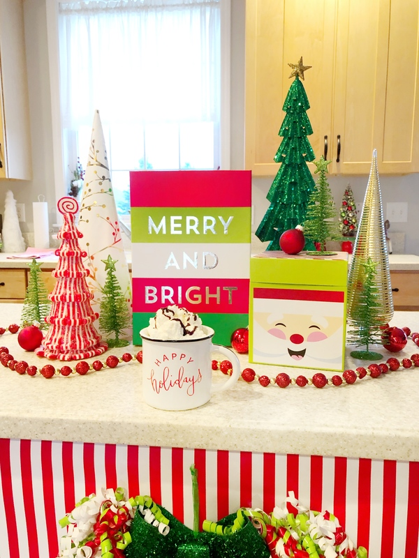 Hobby Lobby Christmas.Decorating Your Kitchen Island For Christmas With Hobby